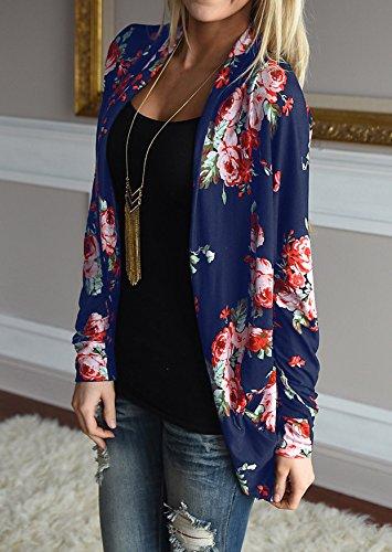 Walant Women Floral Long Sleeve Kimono Boyfriend Cardigans Coat Tops Outwear 1