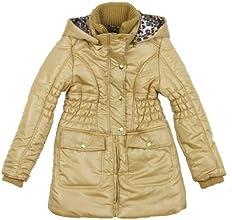 Rothschild Little Girls Leopard Lined Hooded Fashion Jacket