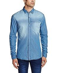 Breakbounce Men's Dress Shirt (8907066079013_Aurora_X-Large_Melancholia Blue)