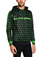JOLLYWEAR Chaqueta de Ciclismo Reversible Fashion Velluto Maria (Negro / Verde)