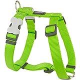 Red Dingo Plain Dog Harness, Medium, 20 mm, Lime Green