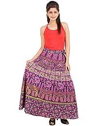 Jaipur Skirt Women's Cotton Wrap Skirt - B01F5OIU48