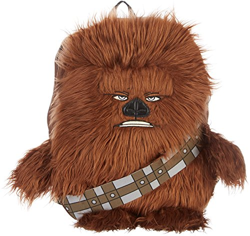 Star Wars Big Boys Disney Chew Bacca 3D Plush Furry Arms and Legs 16 Inch Backpack, Brown, One Size