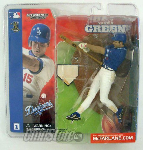 McFarlane Toys MLB Sports Picks Series 1 Action Figure Shawn Green Blue Jersey Variant