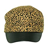 Collection XIIX Women's Cabbie Hat Animal Print Leopard Stone Grey