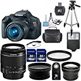 Canon EOS Rebel T3i 18 MP CMOS Digital SLR Camera 33rd Street Elite Bundle with EF-S 18-55mm f/3.5-5.6 IS II Zoom Lens + Auxiliary Telephoto and Wide Angle Lens + 1 pc U.V. Filter + Professional Tripod + Digital Slave Flash + Card Reader + Carrying Case + Wireless Remote and 2 pcs 16GB Memory Cards