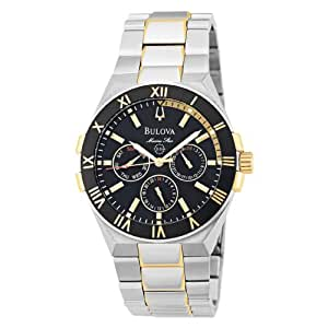 Bulova Men's Marine Star Day-Date Watch Black 98C004