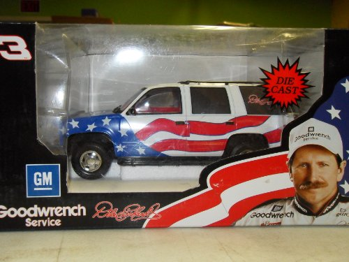 Dale Earnhardt 1996 Olympics Stars and Strips GM Chevy Tahoe Support Vehicle 1:24... by NASCAR