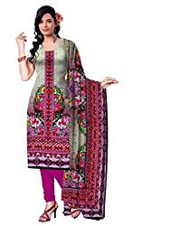 BalajiWomen's Crepe Unstitched dress material(110-multicolor-free size)