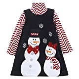 Bonnie Jean Girls Snowman Winter Chevron Holiday Jumper Dress Set