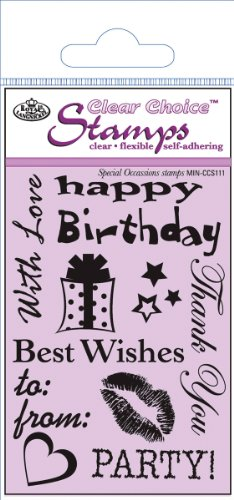 Royal Brush Mini Clear Choice Stamps - Special Occasions