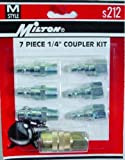 Milton M-Style Air Coupler and Plug Set - 1/4in. NPT, 7-Pcs., Model# S-212