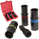 "Anytime Tools Lug Nut Impact Socket Thin Wall Set Flip 6 Sizes METRIC/SAE 1/2"" Drive Service Tool"