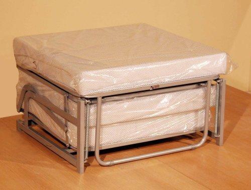 Pouf letto da seduta apribile con materasso singolo for Lit meuble pliant 1 personne