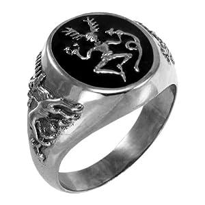 Sterling Silver Celtic Horned God Cernunnos ring jewelry (sz 5-12) sz 5