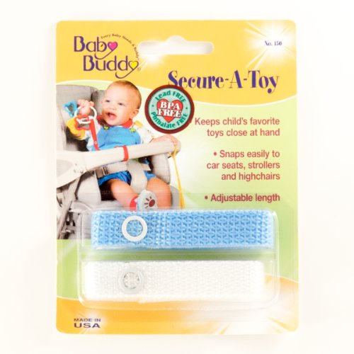 Baby Buddy Secure A Toy 2ct Blue White Christmas Amp New
