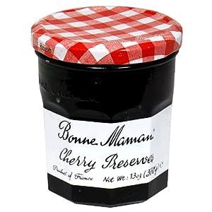 Bonne Maman Cherry Preserves, 13-Ounce Jars (Pack of 6)