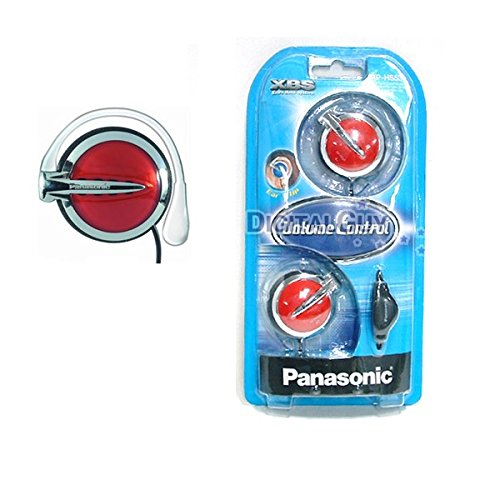 Panasonic Rp-hs53-r Ear Clip Headphones Volume Control Rphs53 RED наушники затычки panasonic rp hje118gug зеленый
