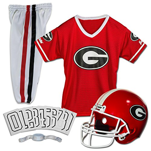 Franklin Sports NCAA Georgia Bulldogs Deluxe Youth Team Uniform Set, Small (Kids American Football Jerseys compare prices)