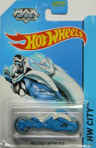 Hot Wheels 2014 Hw City Tooned 1 Max Steel Motorcycle 85/250 - 1