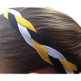 It S Ridic No Slip Grip Non-Slip Sports Athletic Nylon Triple Braided Sports Headband Black | Yellow | White