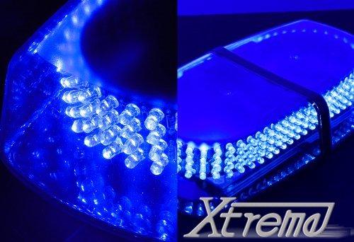 Xtreme® 240 Led Law Enforcement Emergency Hazard Warning Top Roof Led Mini Bar Strobe Light With Magnetic Base (Blue)