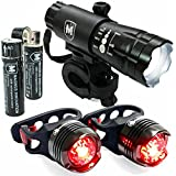 """#1 Rechargeable LED, 100% LIFETIME GUARANTEE Money Back, FREE SHIPPING on the HIGH INTENSITY USB Rechargeable Bike Light with TWO FREE TAIL LIGHTS - Magnus Innovation's """"Vision I"""" Fits ALL Bikes, Water Proof, Easy Install (NoTools), Quick Release Front & Back Mount - 50% OFF TODAY - Limited Time Offer, BUY NOW"""