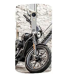 Luxurious Bike 3D Hard Polycarbonate Designer Back Case Cover for Motoroal Moto X Force