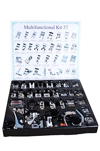 Ohlily Professional 32 PCS Sewing Presser Foot Set for Low Shank Embroidery Machine (32 PCS) (Pressure Feet For Sewing Machines compare prices)