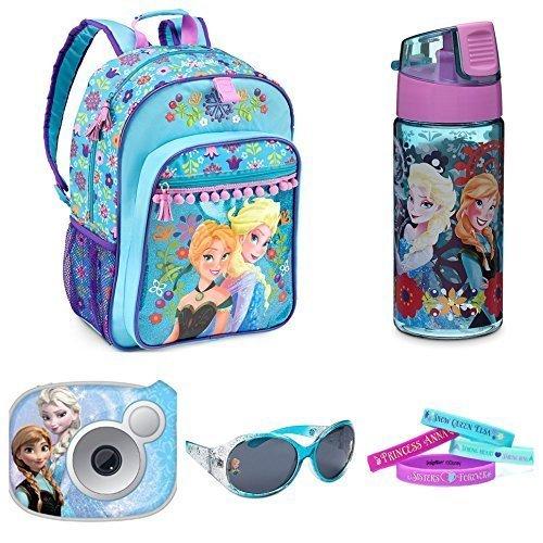 Disney Frozen Girls Ultimate Summer Set Backpack, Digital Camera, Water Bottle, Sunglasses & Bracelets