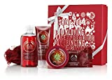 The Body Shop Strawberry Festive Picks Bath/Shower Xmas Gift Set Strawberry Shower/Bath Gel 250ml Strawberry Body Polish 75ml Strawberry Body Butter 50ml Strawberry Soap 100g Mini Red Bath Lily Brand New for Xmas 2014 from The Body Shop