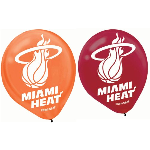 balloon 12 inches -6ct miami heat