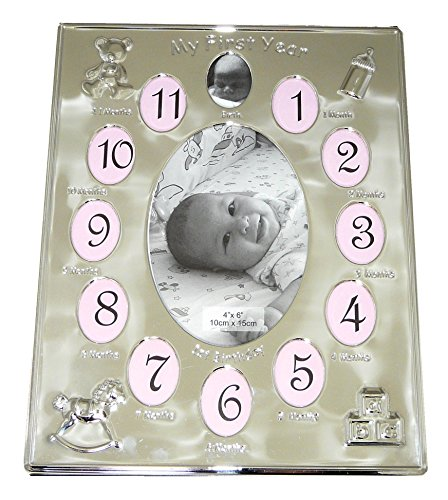 silver-plated-my-first-year-photo-frame-babys-first-birthday-christening-gift-holds-13-photos