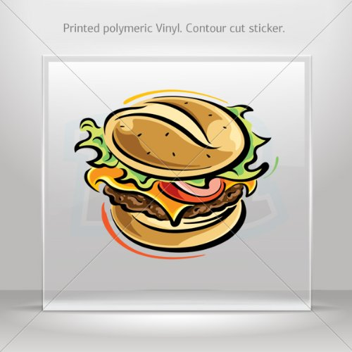 Decals Decal Fast Food Burger Decorative Motorbike Bicycle Vehicle Atv Racing (40 X 33.3 In)