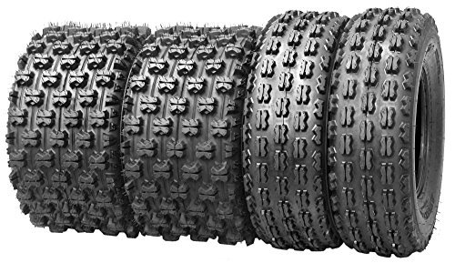 Set of 4 New Sport ATV Tires 21x7-10 Front & 20x10-9 Rear /4PR - 10075/10081 (Atv Tire Set compare prices)