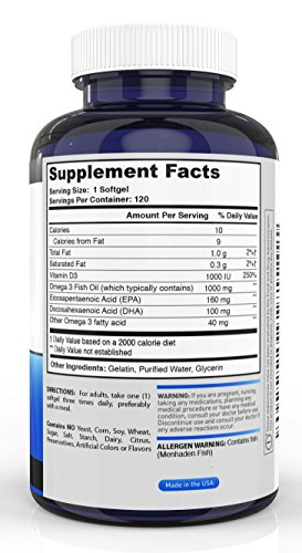 Cyber monday sale omega 3 fish oil with vitamin d 120 for Fish mox amazon