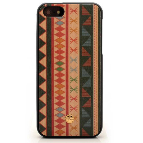 Christmas Ethnic Maya #2 Wooden Case Iphone 5 & 5S Case Cover Original From Bante Yante - Wooden Imprinted Journal With A Handmade Wooden Cover front-52435