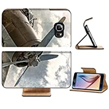 buy Samsung Galaxy S6 Flip Wallet Case Liili Premium Old Aircraft Biplane In Retro Style Image Id 15070604