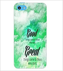 PrintDhaba Quote D-4468 Back Case Cover for APPLE IPHONE 5C (Multi-Coloured)
