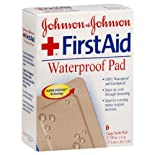 Johnson & Johnson First Aid Waterproof Pad, Large, 6 ct.