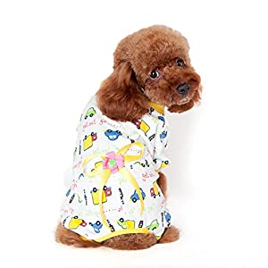 Kocome Cozy Pajamas Dog Clothes Jumpsuit Pet Apparel Puppy Shirt Soft Cat Clothing