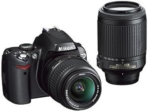 Nikon D40X DSLR Camera with 18-55mm f/3.5-5.6G ED II AF-S DX and 55-200mm f/4.5-5.6G ED AF-S DX Zoom-Nikkor Lens
