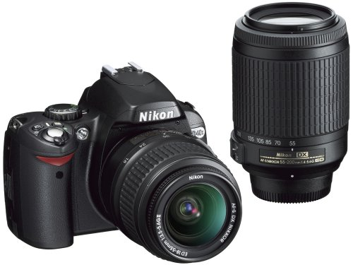 Nikon D40X 10.2MP Digital SLR Camera with 18-55mm f/3.5-5.6G ED II AF-S DX and 55-200mm f/4.5-5.6G ED AF-S DX Zoom-Nikkor Lens