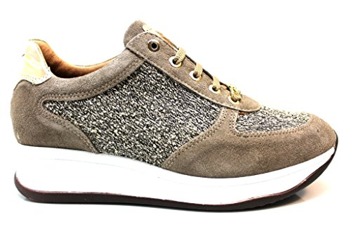 Liu Jo Girl B21655 Taupe Sneakers Scarpe Donna Calzature Comode Woman Shoes