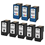 Speedy Inks - 8 Pack (5 Black 3 Color) Remanufactured Replacement Dell Series 5 HY Inks Cartridges M4640 M4646 [並行輸入品]