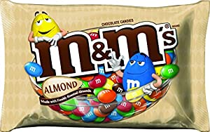 M&M'S Almond Chocolate Candies, 15.9 Ounce Packages (Pack of 4)