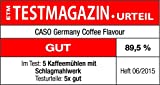 Caso Coffee Flavour, Elektrische Kaffeemühle für Kaffee, Espresso, Nüsse, Gewürze und vieles mehr, für bis zu 90 g Kaffeebohnen -