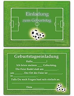 Fussball Einladungskarten Kindergeburtstag Einladung Jungen Kinder ...