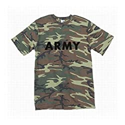 ARMY Short Sleeve T-Shirt in woodland camo