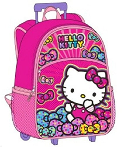 Hello Kitty Rolling Backpack Bow Large 16